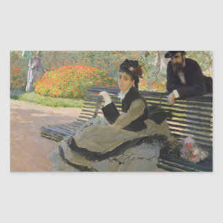 Claude Monet - Camille Monet on a Bench Sticker