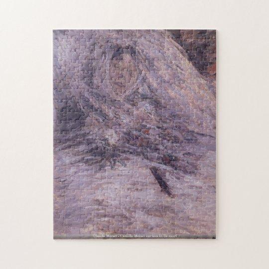 Claude Monet - Camille Monet sur son lit de mort Jigsaw Puzzle