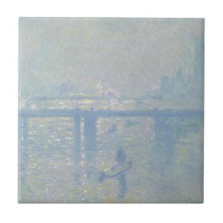 Claude Monet - Charing Cross Bridge. Classic Art Tile