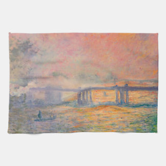 Claude Monet Charing Cross Bridge Hand Towel