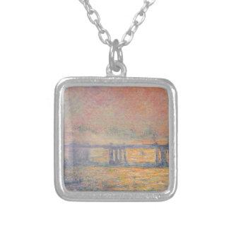 Claude Monet - Charing Cross Bridge Saint Louis Silver Plated Necklace