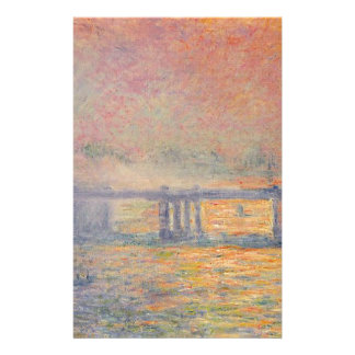 Claude Monet - Charing Cross Bridge Saint Louis Stationery