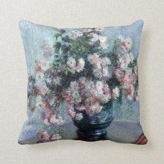 Claude Monet Chrysanthemums Throw Pillow