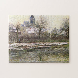 Claude Monet-Church of Vetheuil in the snow puzzle