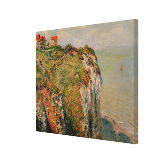 Claude Monet | Cliff at Dieppe, 1882 Canvas Print
