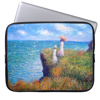 Claude Monet: Cliff Walk at Pourville Laptop Sleeve