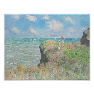 Claude Monet - Cliff Walk at Pourville Photo Print