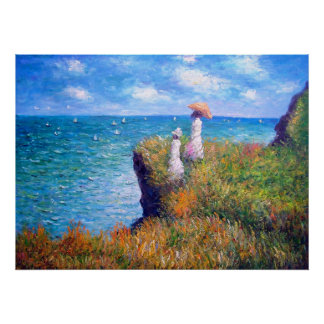 Claude Monet: Cliff Walk at Pourville Poster