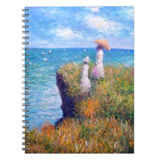 Claude Monet: Cliff Walk at Pourville Spiral Notebook