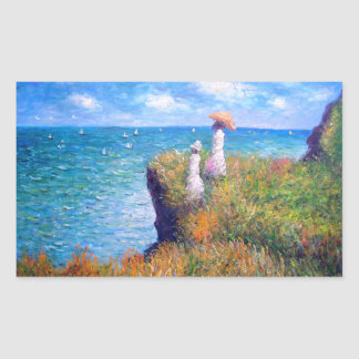 Claude Monet: Cliff Walk at Pourville Sticker