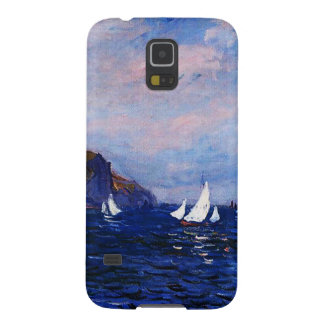 Claude Monet-Cliffs and Sailboats at Pourville Cases For Galaxy S5