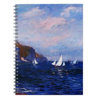 Claude Monet-Cliffs and Sailboats at Pourville Notebook
