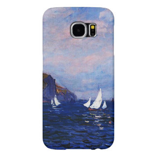 Claude Monet-Cliffs and Sailboats at Pourville Samsung Galaxy S6 Cases