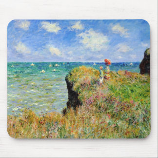 Claude Monet Clifftop Walk Mousepads