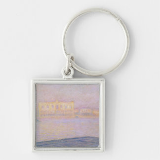 Claude Monet | Ducal Palace from San Giorgio, 1908 Silver-Colored Square Keychain