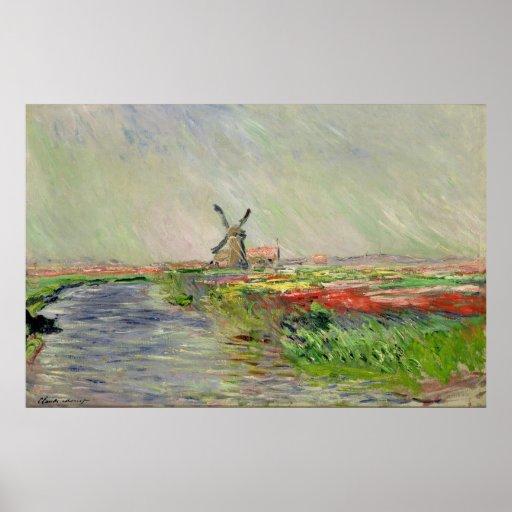 Claude Monet ~ Dutch Tulips Poster