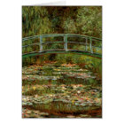 Claude Monet Famous Art Bridge Painting Card