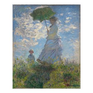 Claude Monet - femme avec un parasol Impressions Photo