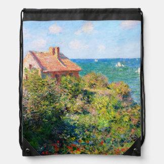 Claude Monet: Fishermans Cottage at Varengeville Cinch Bag