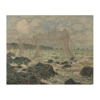 Claude Monet - Fishing Nets at Pourville Wood Canvas