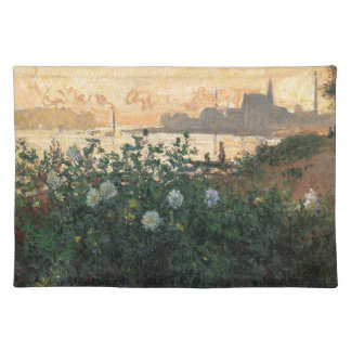 Claude Monet - Flowered Riverbank Argenteuil Placemat