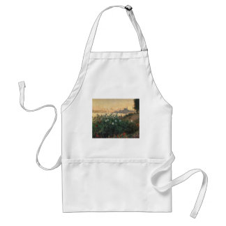 Claude Monet - Flowered Riverbank Argenteuil Standard Apron