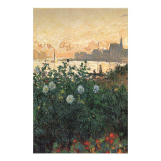 Claude Monet - Flowered Riverbank Argenteuil Stationery