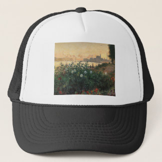 Claude Monet - Flowered Riverbank Argenteuil Trucker Hat