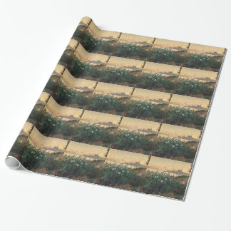 Claude Monet - Flowered Riverbank Argenteuil Wrapping Paper