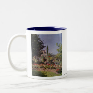 Claude Monet - Flowering Garden at Sainte-Adresse Two-Tone Coffee Mug