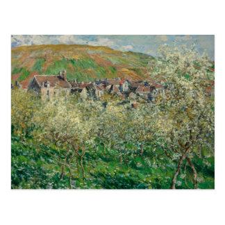 Claude Monet - Flowering Plum Trees Postcard