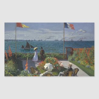 Claude Monet - Garden at Sainte-Adresse Sticker