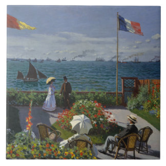 Claude Monet - Garden at Sainte-Adresse Tile