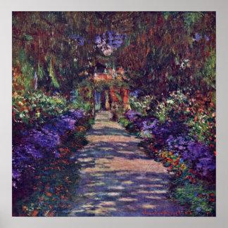Claude Monet - garden path Poster