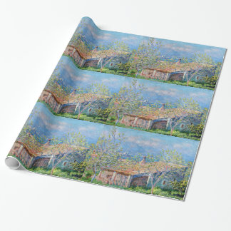Claude Monet: Gardeners House at Antibes Wrapping Paper