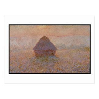 Claude Monet   Grainstack, Sun in the Mist Postcard