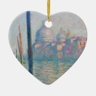 Claude Monet Grand Canal Venice Italy Travel Ceramic Heart Ornament