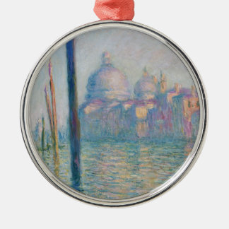 Claude Monet Grand Canal Venice Italy Travel Silver-Colored Round Ornament