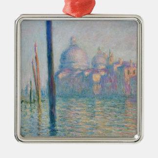 Claude Monet Grand Canal Venice Italy Travel Silver-Colored Square Ornament