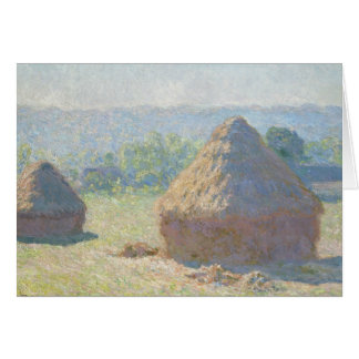 Claude Monet - Haystacks, End of Summer Card