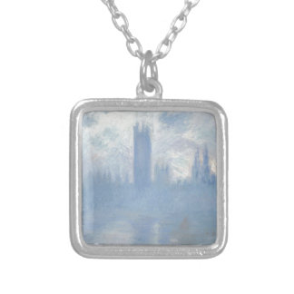 Claude Monet - Houses of Parliament London Art Silver Plated Necklace