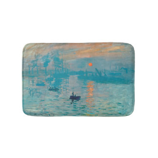 CLAUDE MONET - Impression, sunrise 1872 Bath Mat