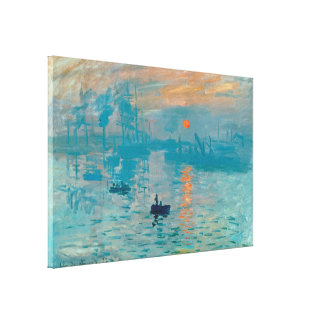 CLAUDE MONET - Impression, sunrise 1872 Canvas Print