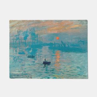 CLAUDE MONET - Impression, sunrise 1872 Doormat