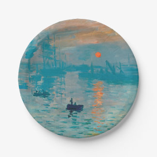 CLAUDE MONET - Impression, sunrise 1872 Paper Plate