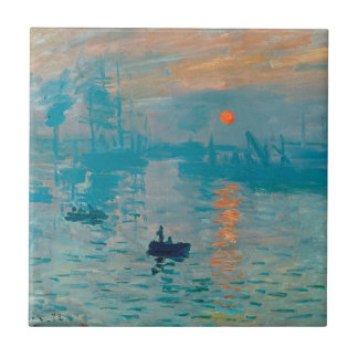 CLAUDE MONET - Impression, sunrise 1872 Tile