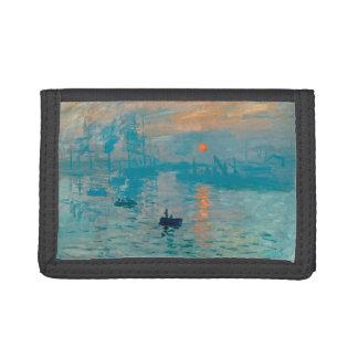 CLAUDE MONET - Impression, sunrise 1872 Trifold Wallets