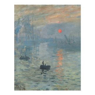 Claude Monet Impression Sunrise Soleil Levant Letterhead Template