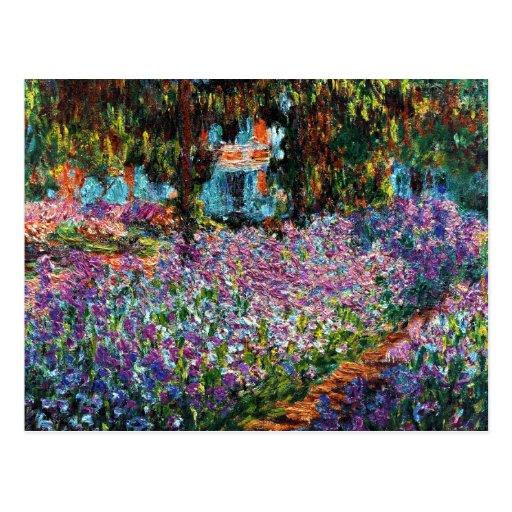 Claude Monet : Iris dans le jardin de Monet Cartes Postales