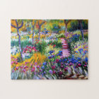 Claude Monet: Iris Garden by Giverny Jigsaw Puzzle